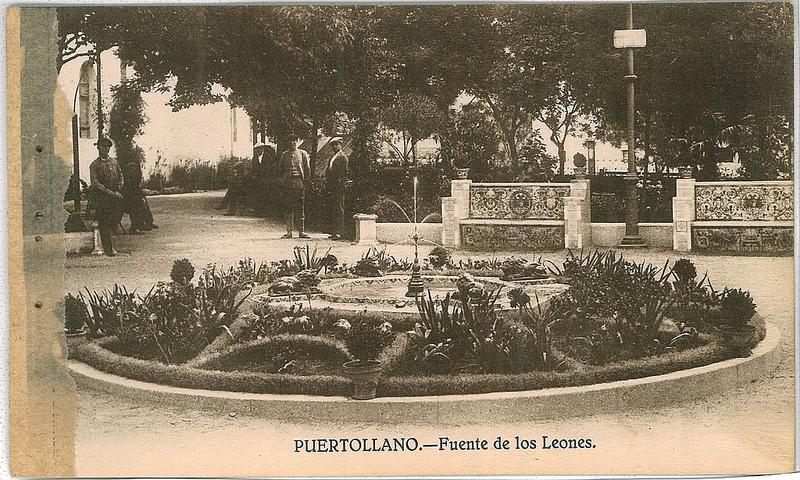 Fuente de los Leones. 1930. Fotografía Oña
