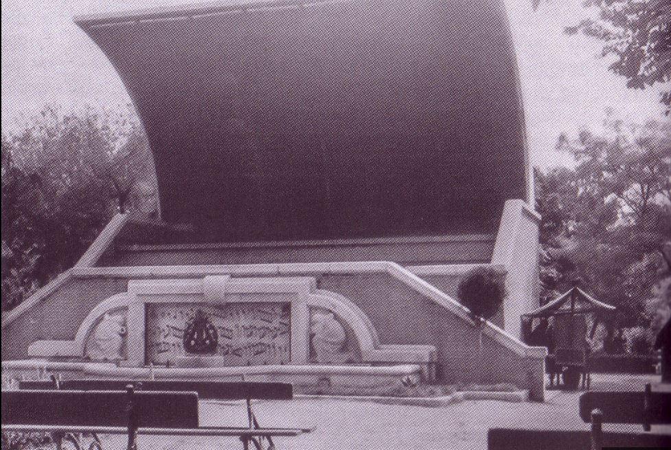 Concha de Música. Inaugurada en 1952