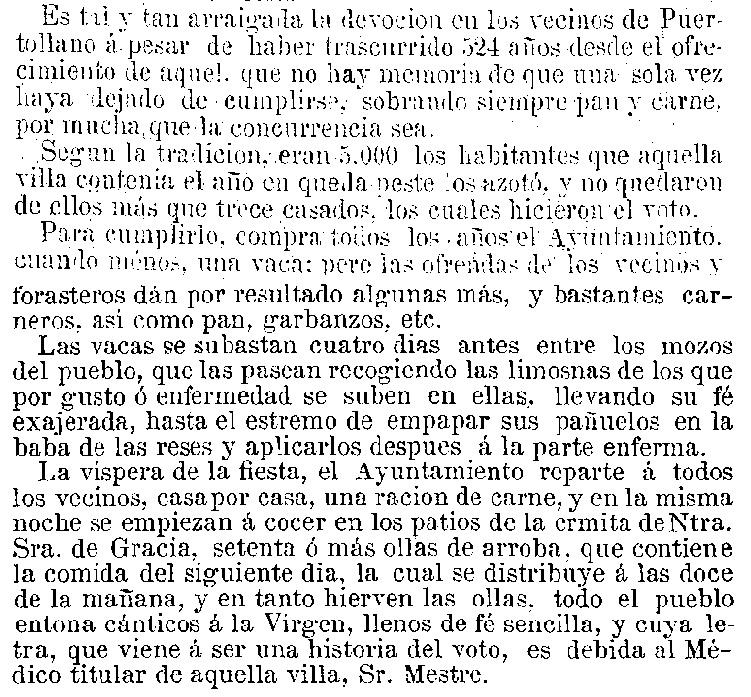 """Un fragmento de la obra Gervasio Montero """"Impresiones de un viaje a Baños. De Madrid a Lisboa"""" publicado en 1872"""