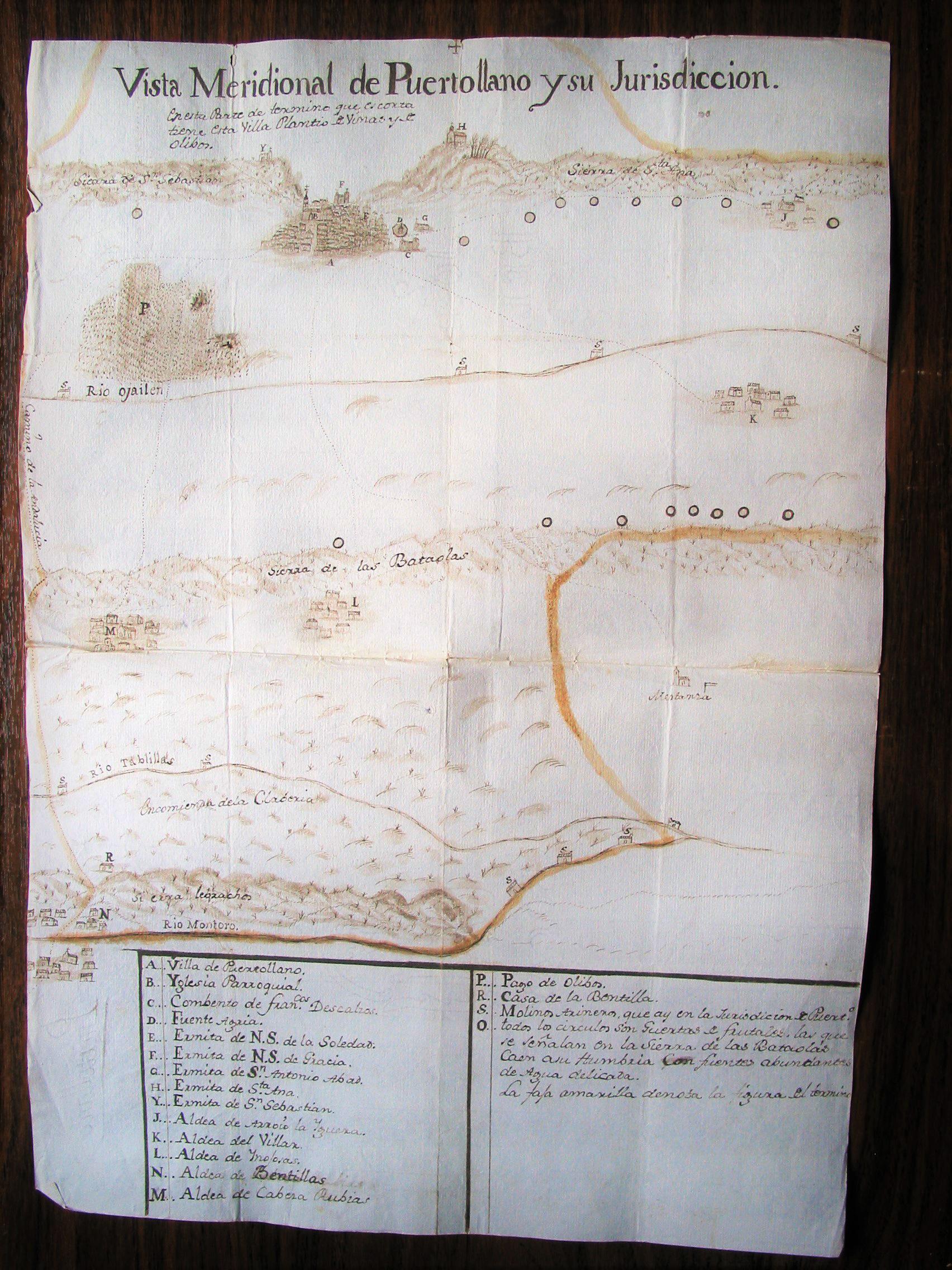 Mapa del término de Puertollano 1788
