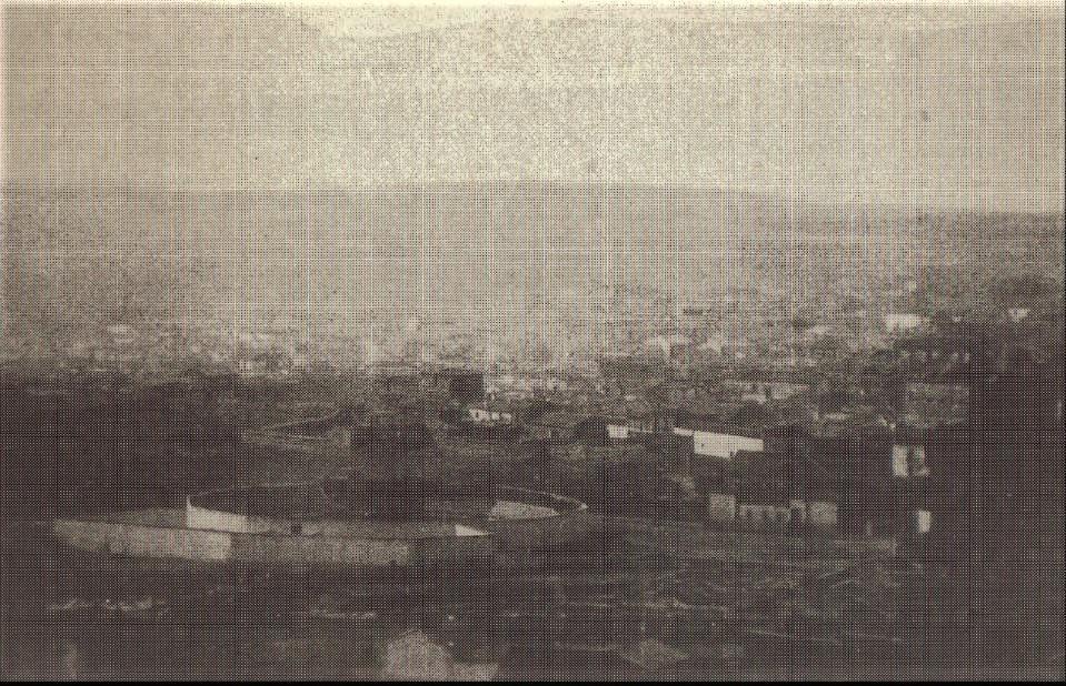 Antigua Plaza de Toros y restos convento franciscano. 1916.