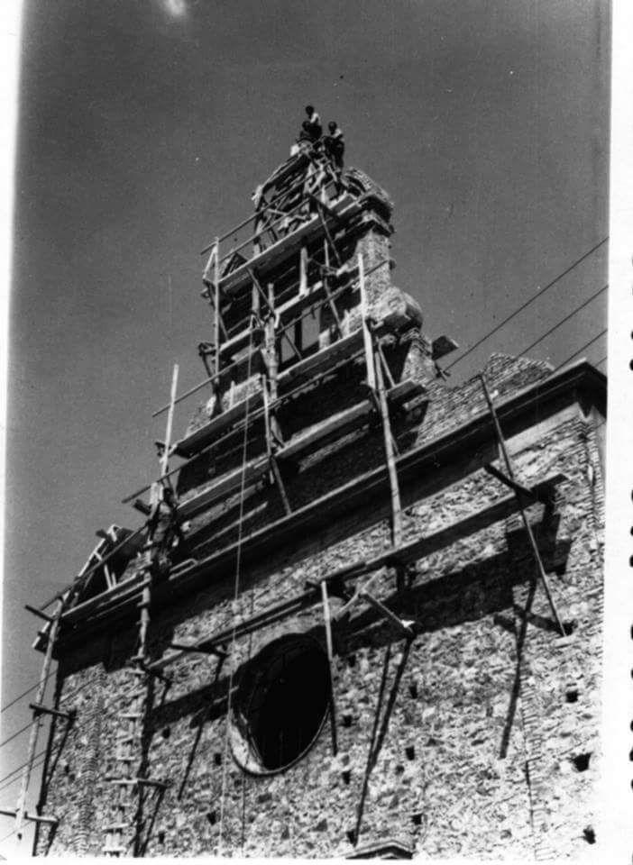 Construcción de la Iglesia María Auxiliadora de Salesianos 1952