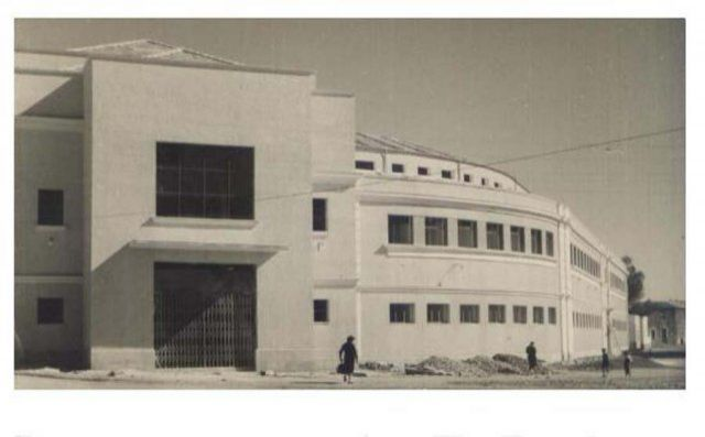 Mercado Municipal 1957. Tarjeta postal