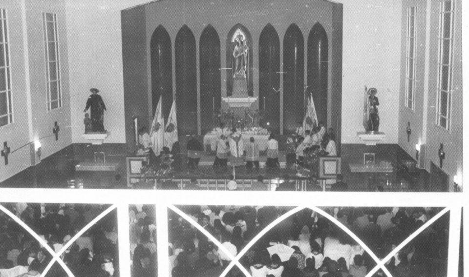 Bendición de la Iglesia María Auxiliadora 1953