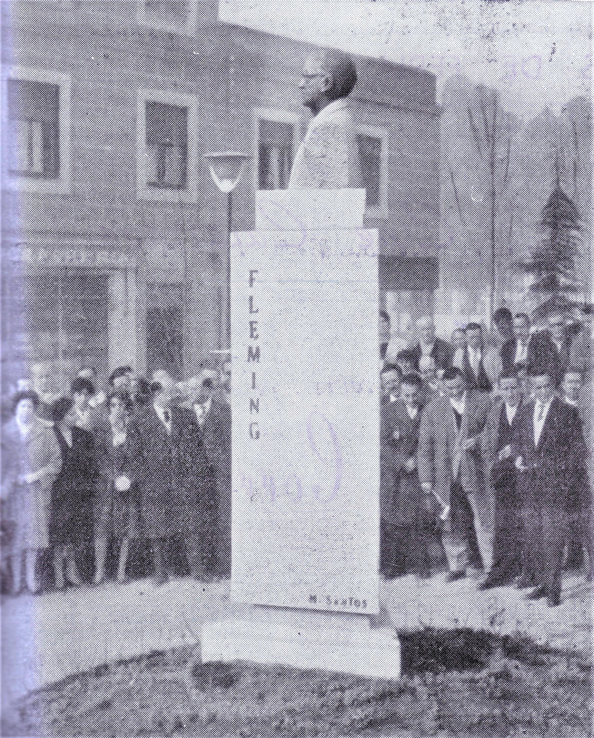 Monumento al Dr. Fleming. Inauguración 31 Enero 1960