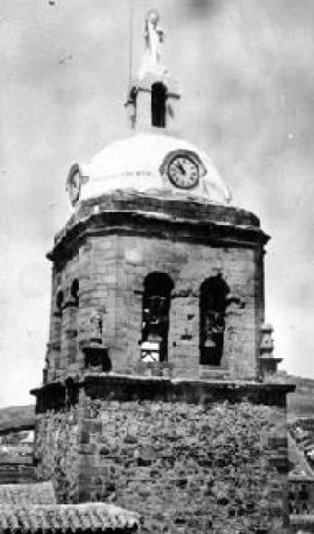 Torre de la Parroquia de la Asunción en el año 1932
