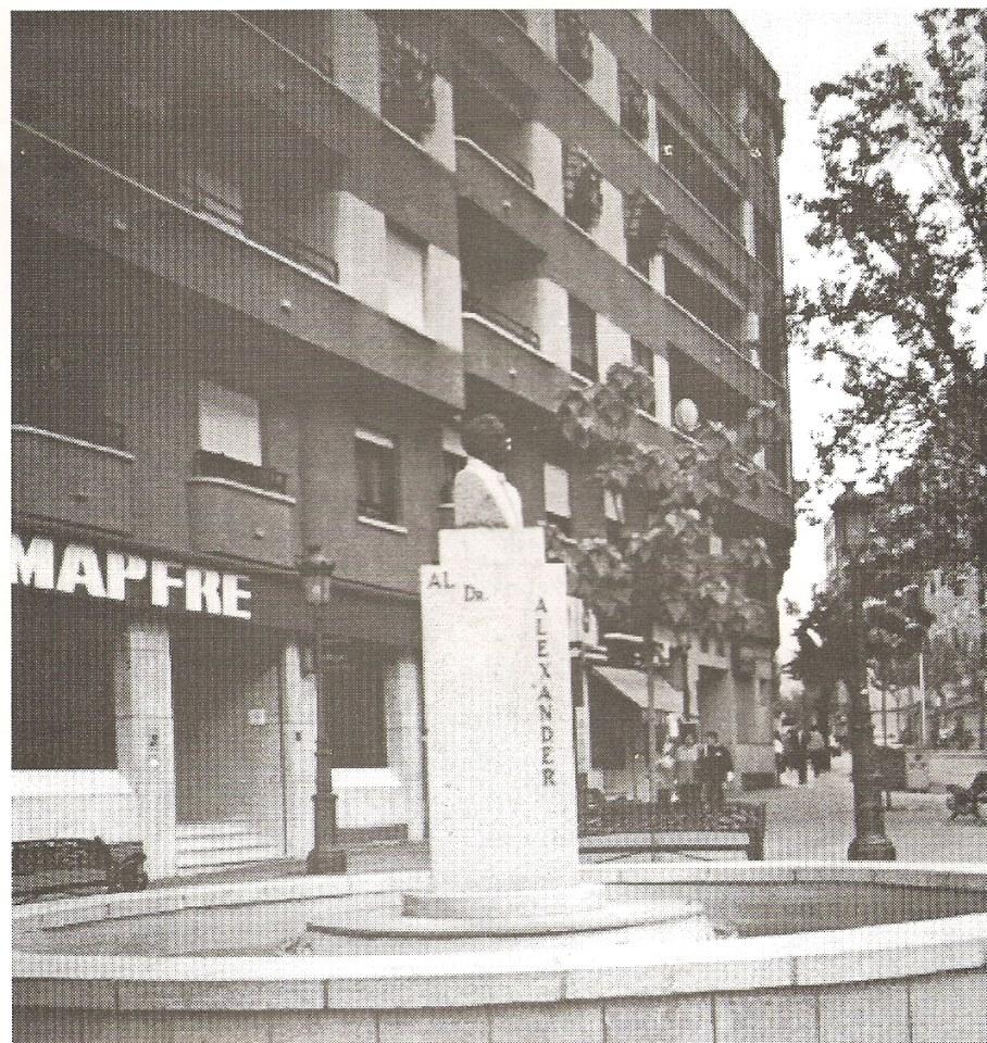 Monumento al Dr. Fleming . Fotografía. Felipe Valentín García