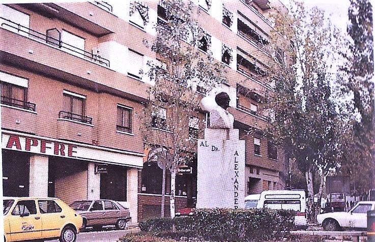 Plaza del doctor Fleming. Año 94. Fotografía Felipe Valentín García