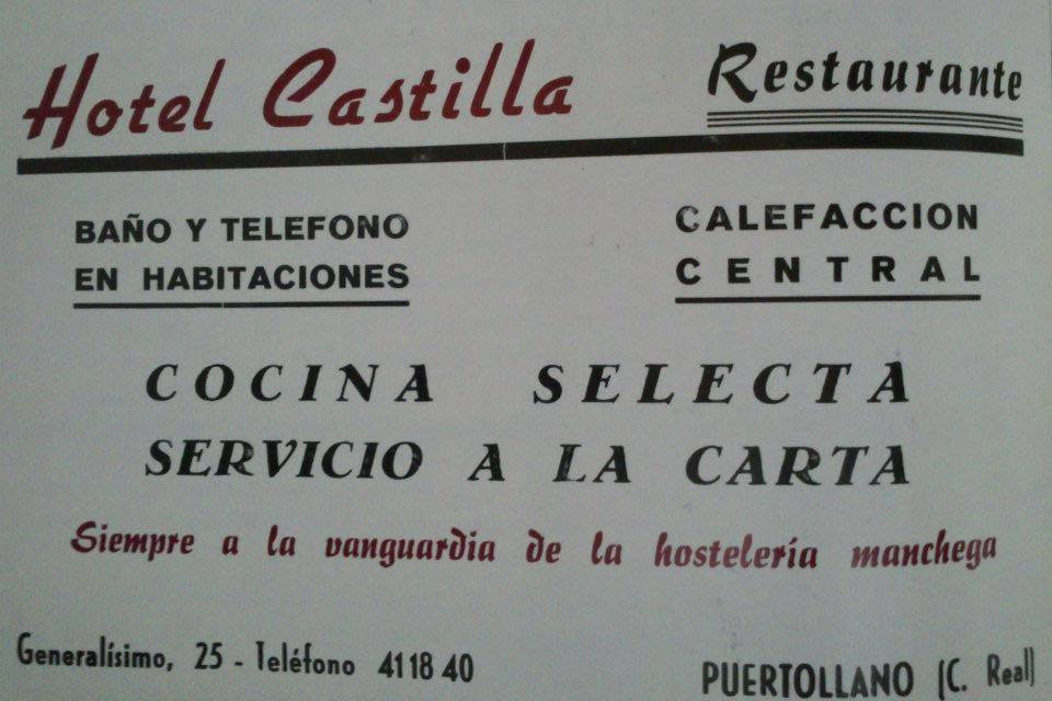Anuncio del Hotel Castilla