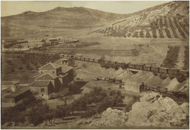 Iglesia Virgen de Gracia vista desde el cerro Santa Ana. 1905