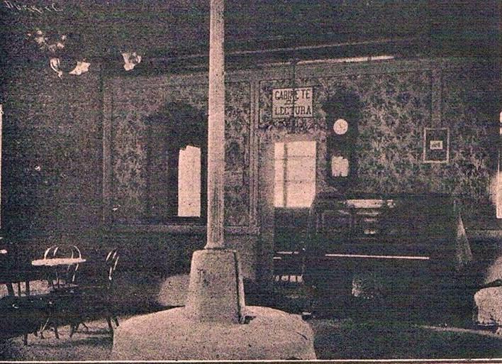 Interior Casino. Salón de Tertulias. Principios S.XX. Archivo Municipal