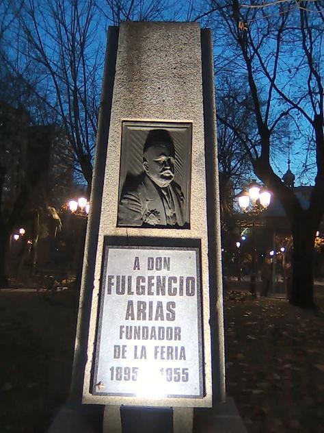 Monumento Fulgencio Arias. Autor Manuel Santos