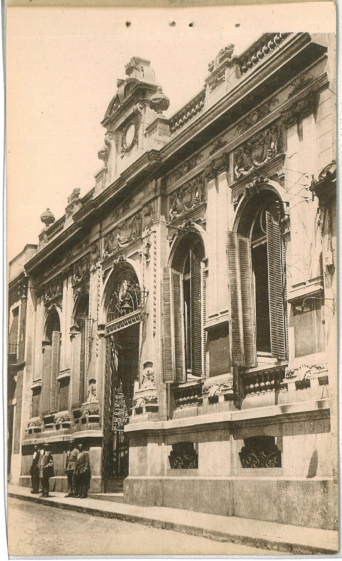 Casino en calle Aduana. 1930. Fotografía Oña