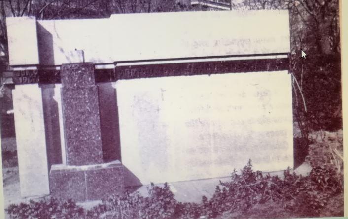 Monumento al Marqués de Suanzes a finales de los 70