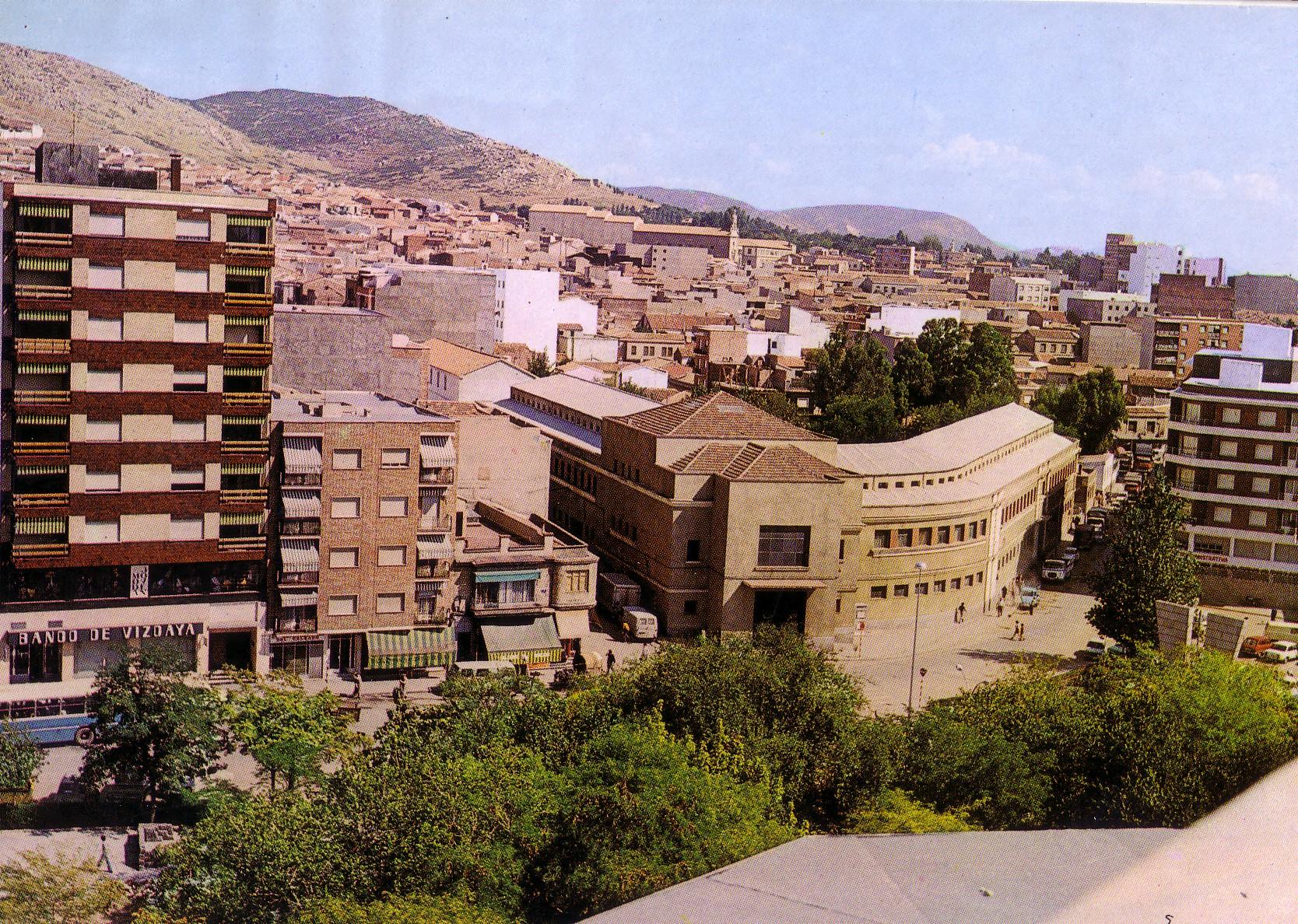 Mercado Municipal Años 60. Tarjeta postal. Archivo F. Negrete