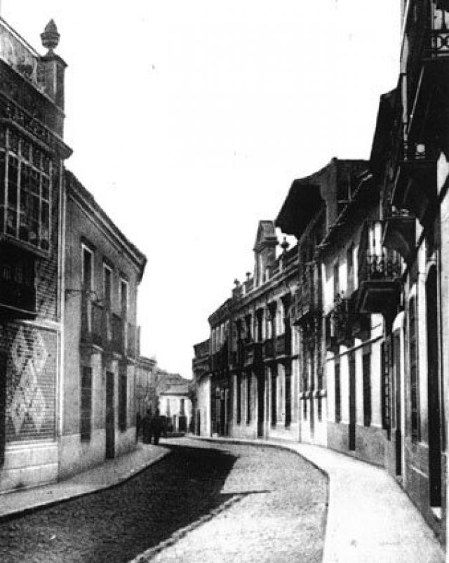 Calle Calzada Años 30 Fotografía Oña