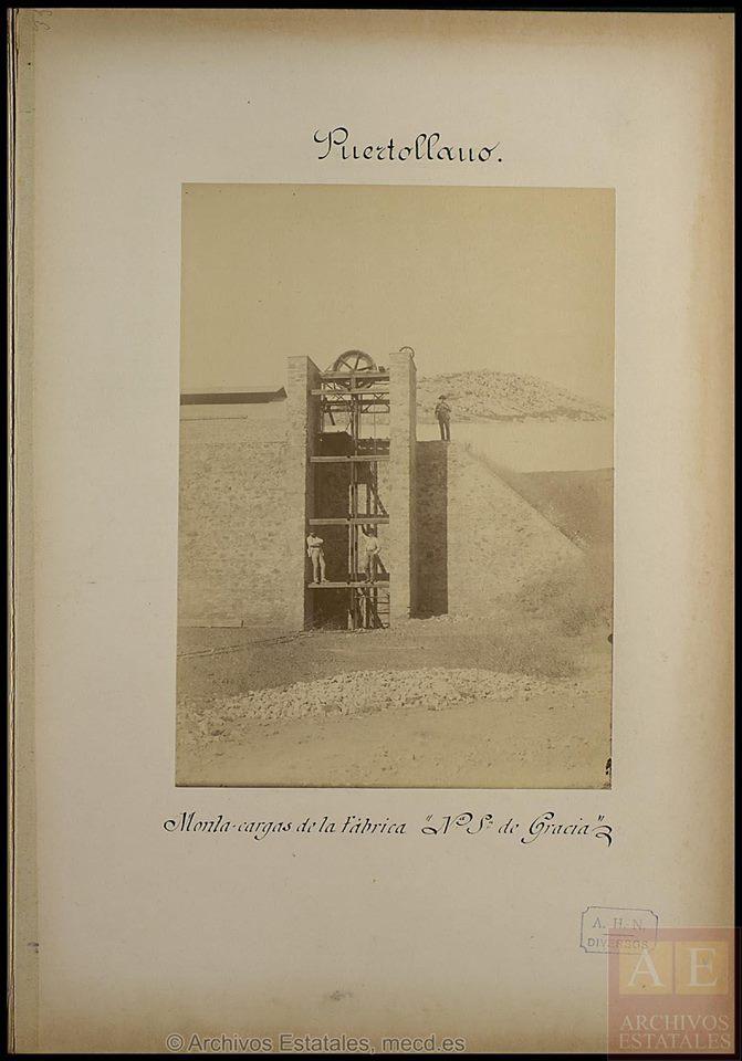 Fundición Nuestra Señora de Gracia. Montacargas de la fábrica. Archivos Estatales