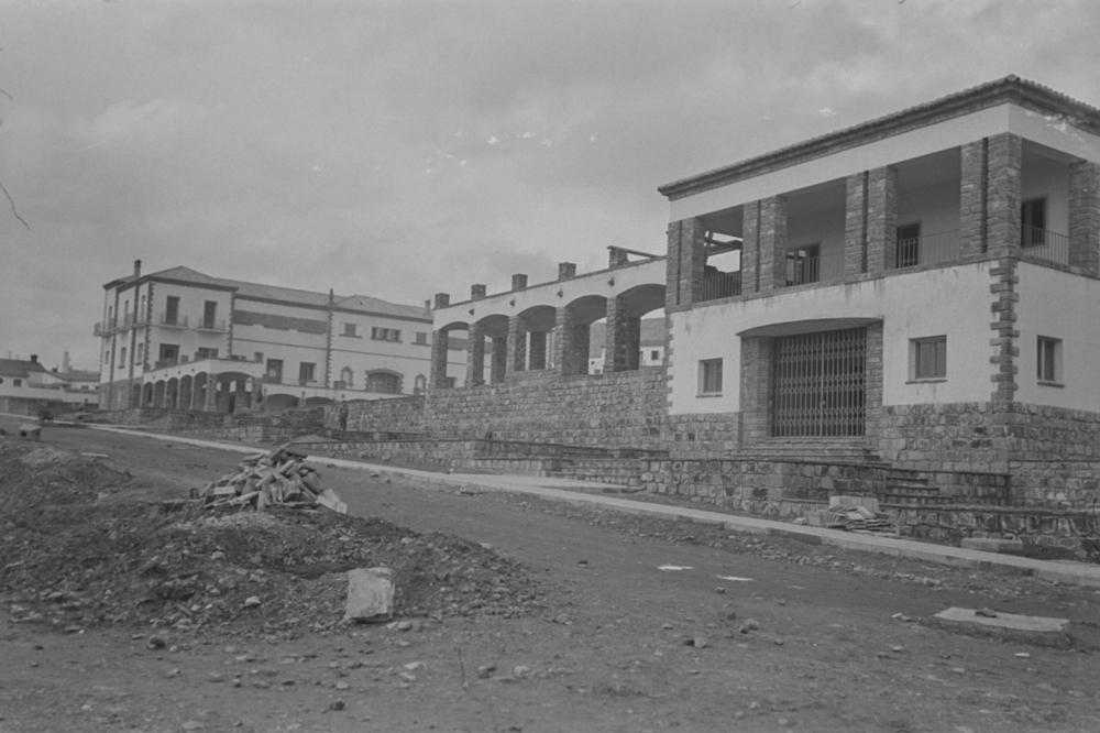 El Cine del poblado. Fotografía Wunderlich Otto. Fotografía tomada hacia 1952