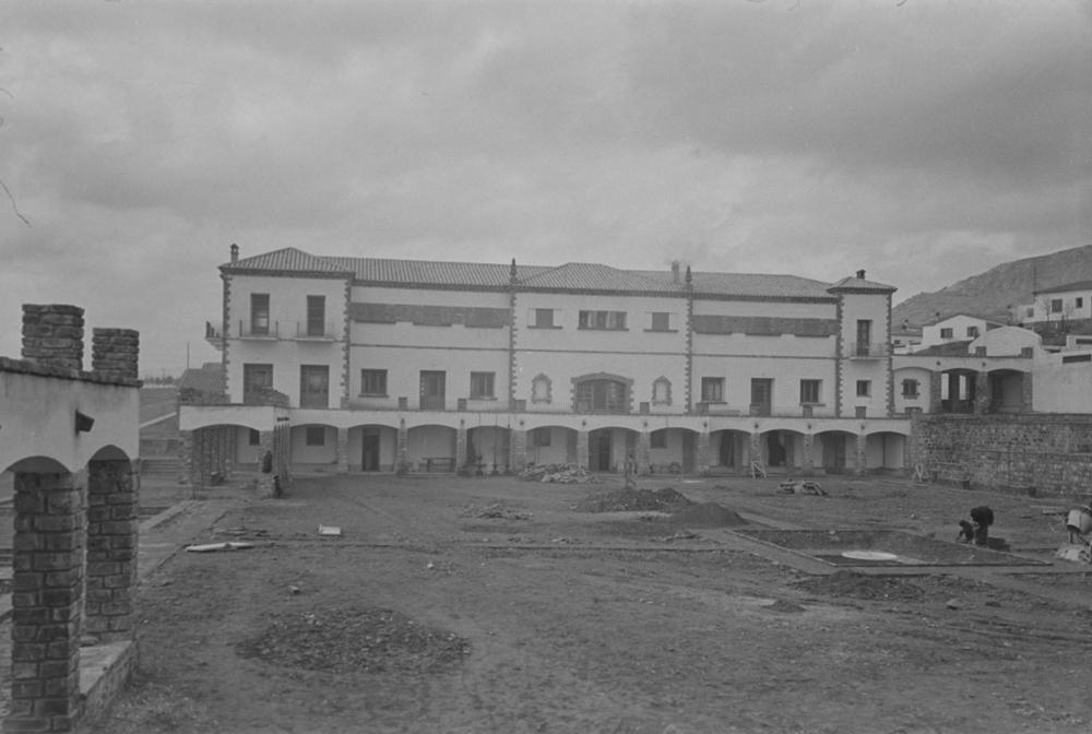 Plaza de las Palmas. Fotografía Wunderlich Otto. Fotografía tomada hacia 1952