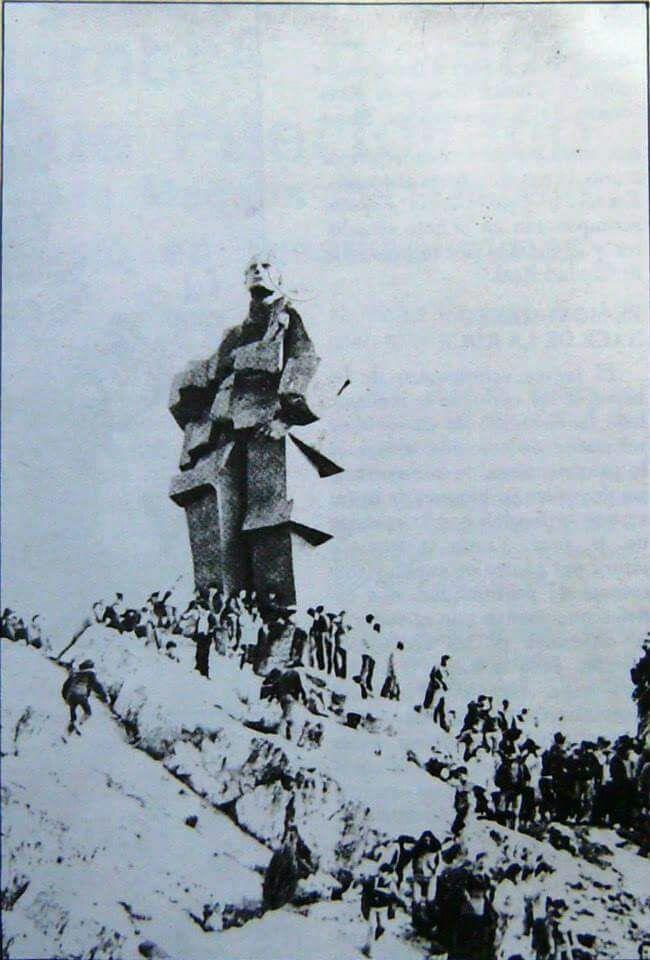 Inauguración del monumento al minero. 1983