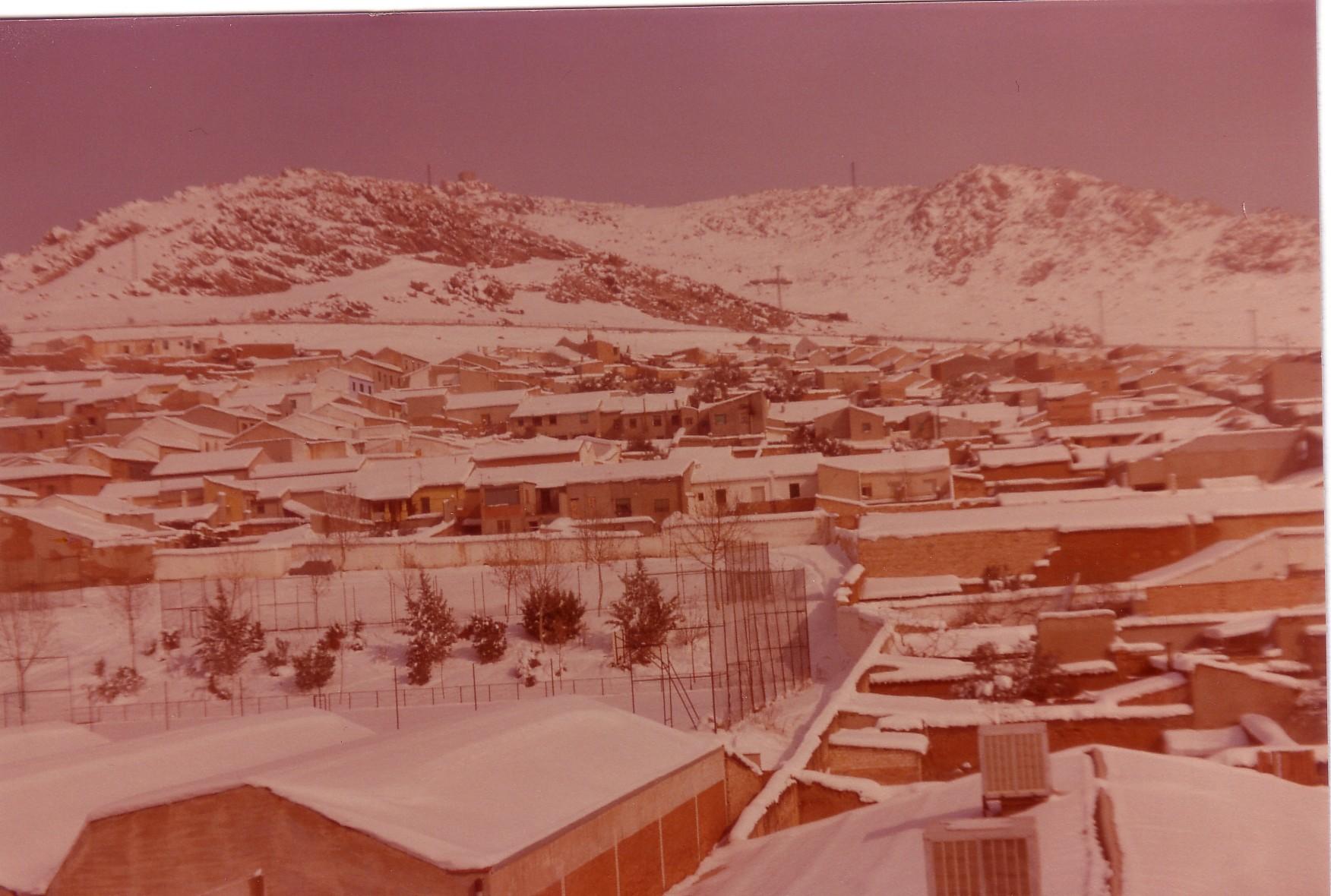 La Chimenea Cuadrá nevada. 1983 Fotografía. F. Negrete