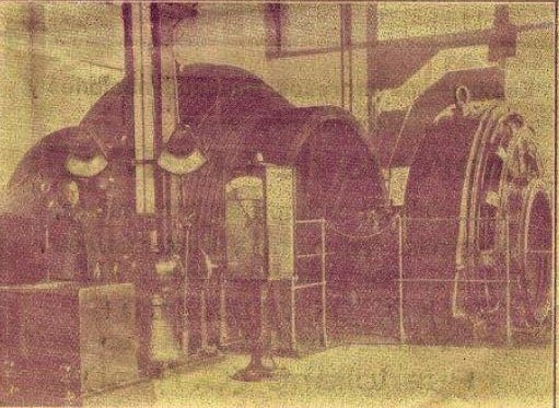 Maquina extracción Pozo Norte. 1934