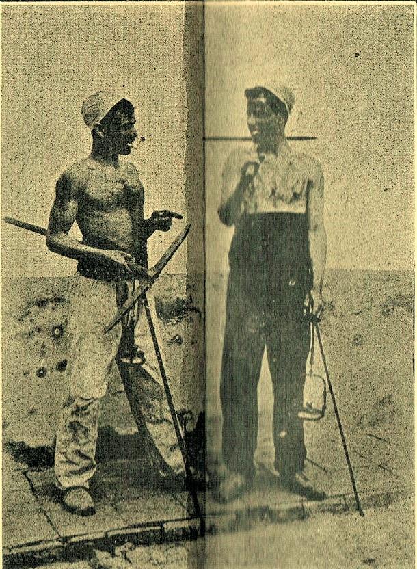 Picadores de Mina Argúelles.1907. Archivo Museo Municipal