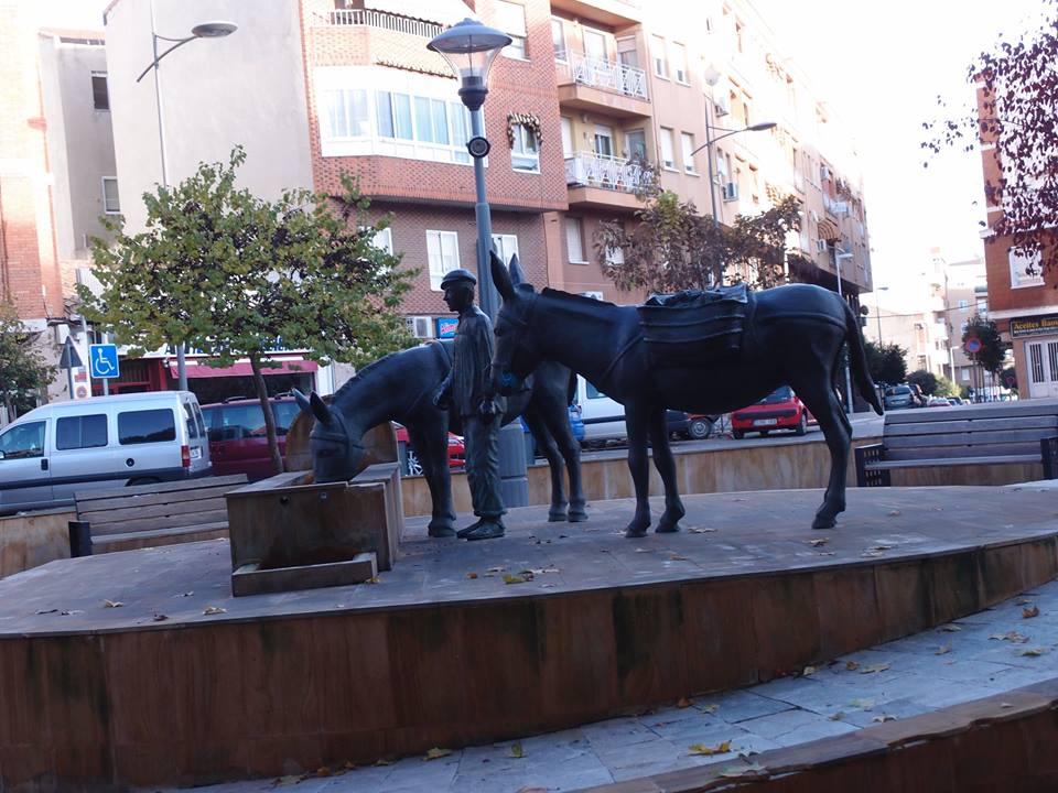 Plaza del Pilancon de los burros. Fotografía Faustino Miragalla Muñoz