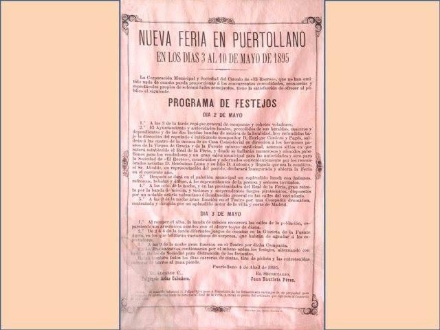 Primer cartel de la Feria de Mayo. 1895