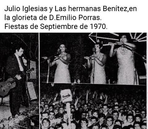 Destacadas actuaciones musicales en las Ferias de Septiembre. 1970
