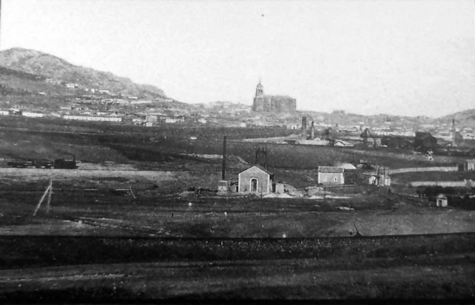 Puertollano desde la cuenca minera.1901