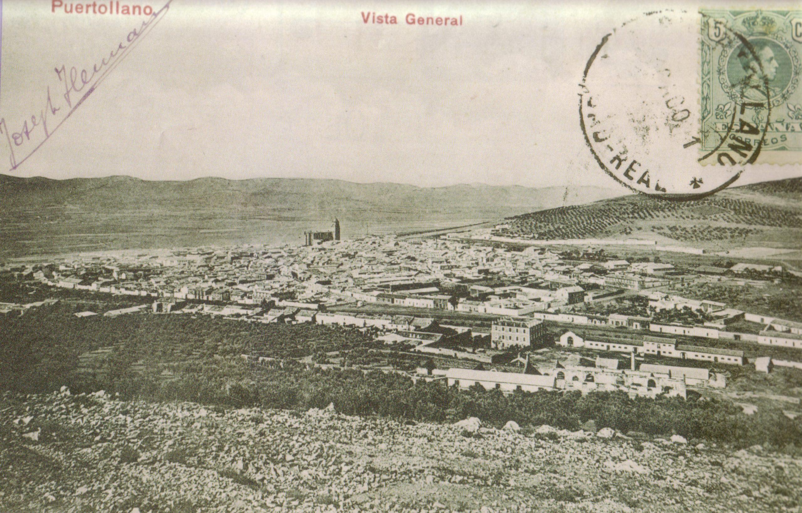 Vista General de la ciudad de Puertollano en 1911. Fototeca Centro Estudios Castilla la Mancha