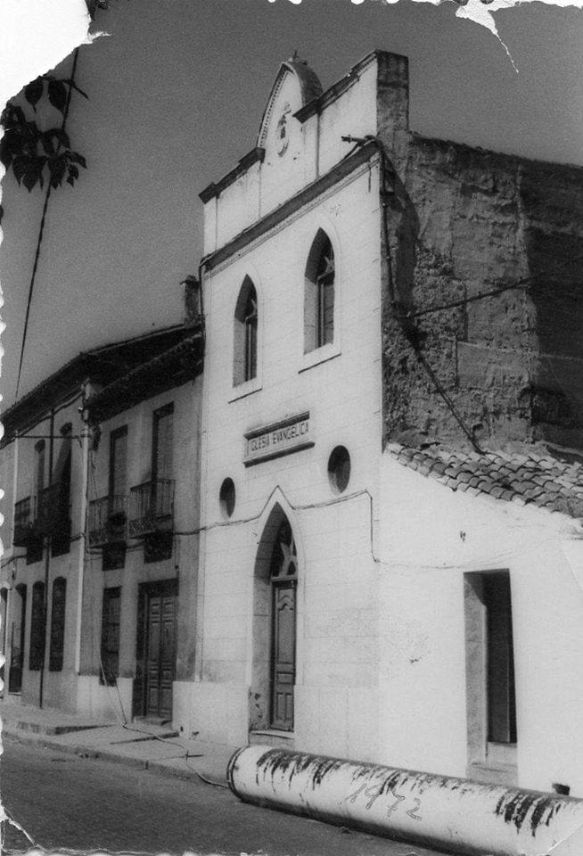 Iglesia evangélica, en la calle Ancha. 1972 Archivo Aumi Arias