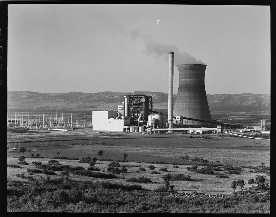 Central Térmica de Puertollano [Vista de las instalaciones termoeléctricas de la central de ciclo convencional dotada de un grupo térmico de 220 MW. Destaca la torre de refrigeración]