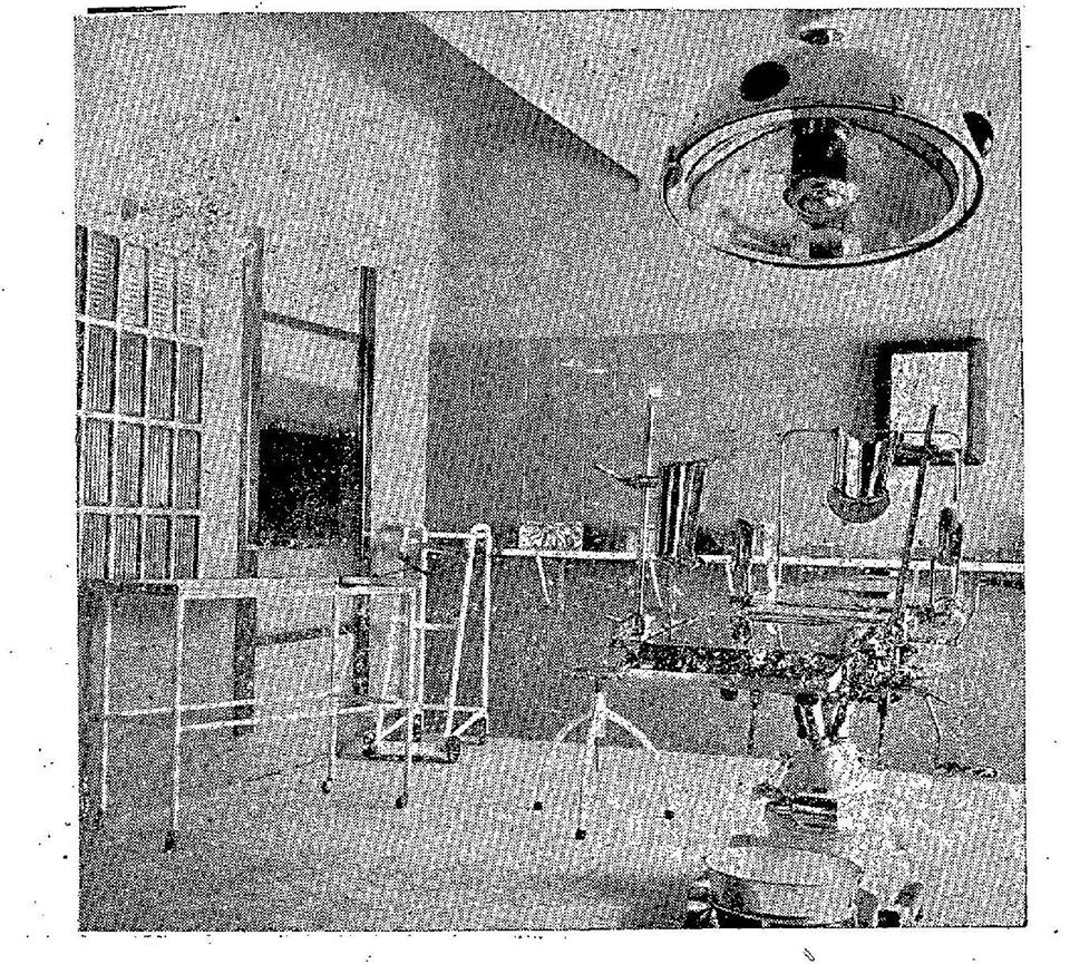 Hospital 18 de Julio. Sala de curas y quirófano. 1962