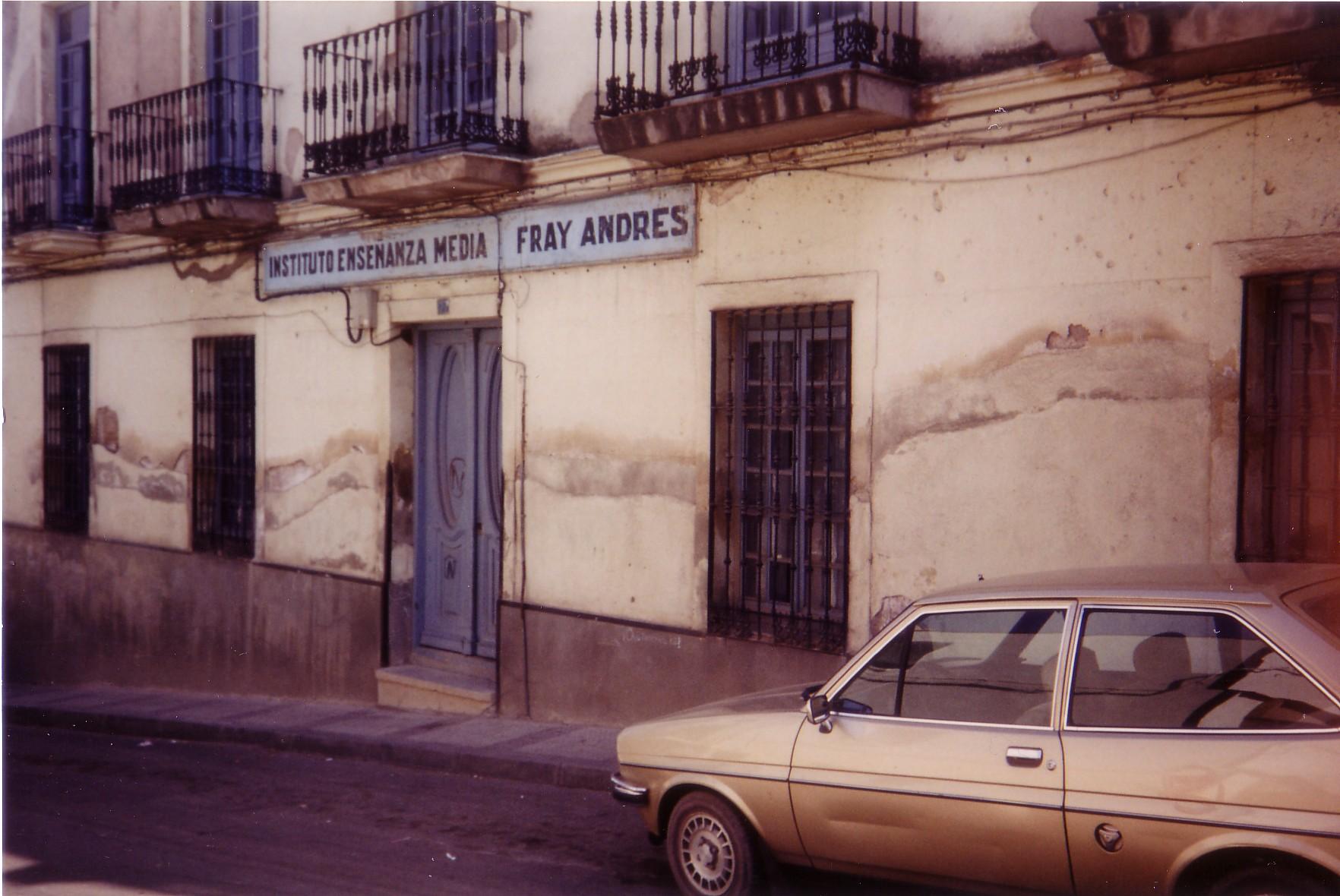 Instituto Fray Andrés Calle Torrecilla 1989 Fotografía F. Negrete