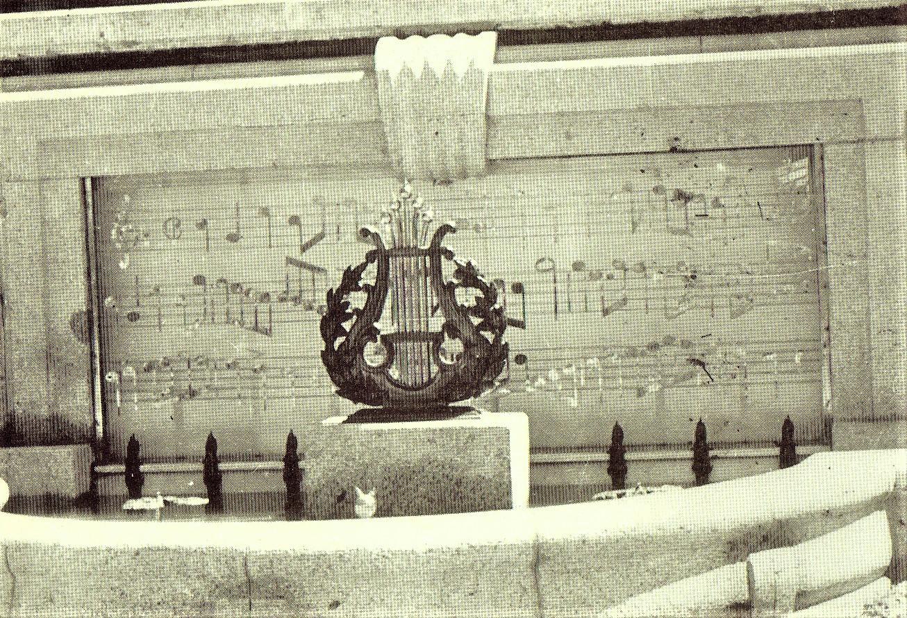 Detalle de la Fuente Concha Música. 1956