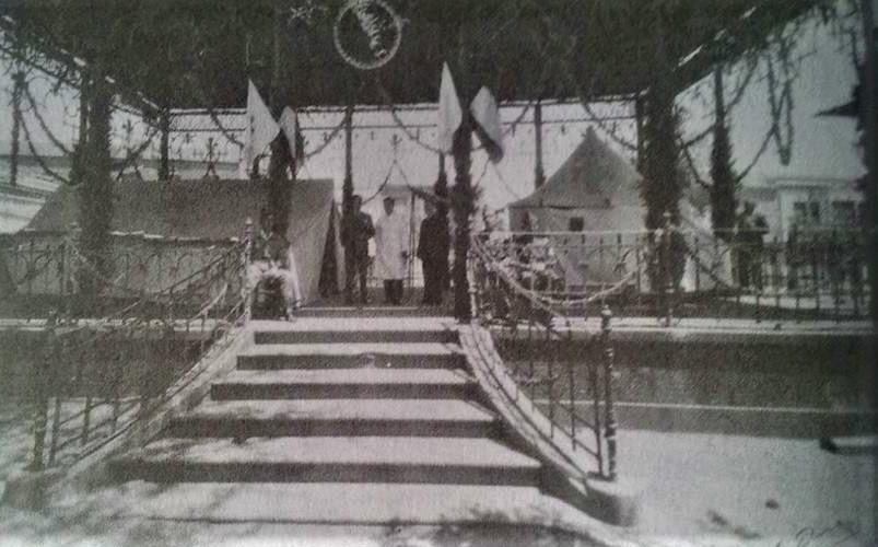 Puesto de Socorro instalado en un Pabellón para la Feria de Mayo de 1955