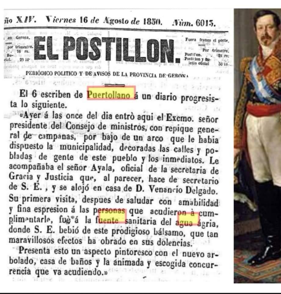 Visita del General Narváez a la Casa Baños. 1850