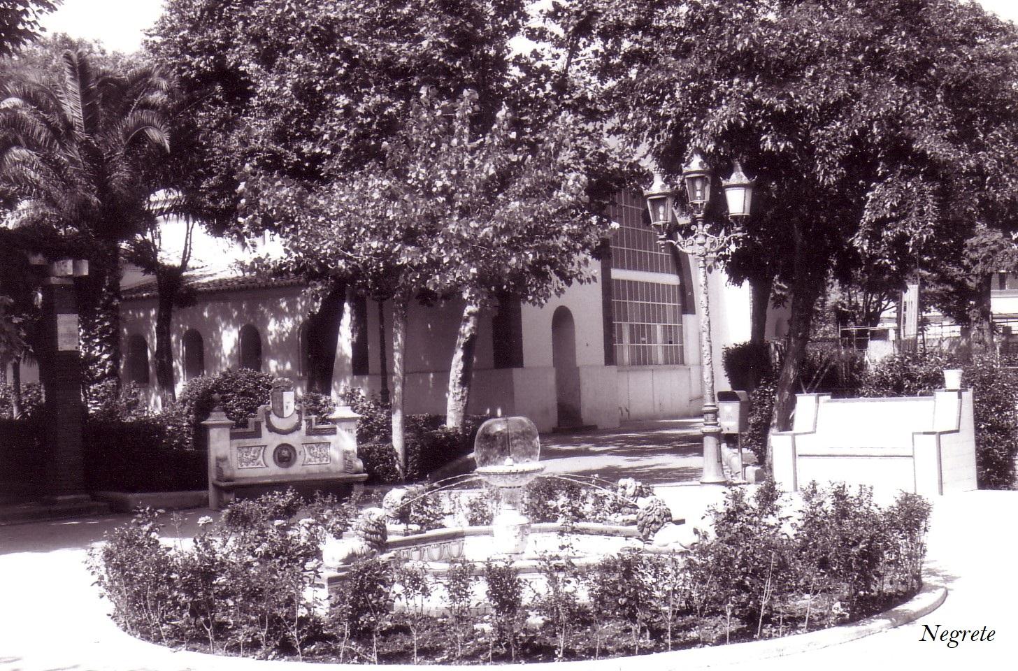 Fuente de los leones Archivo F. Negrete 1986