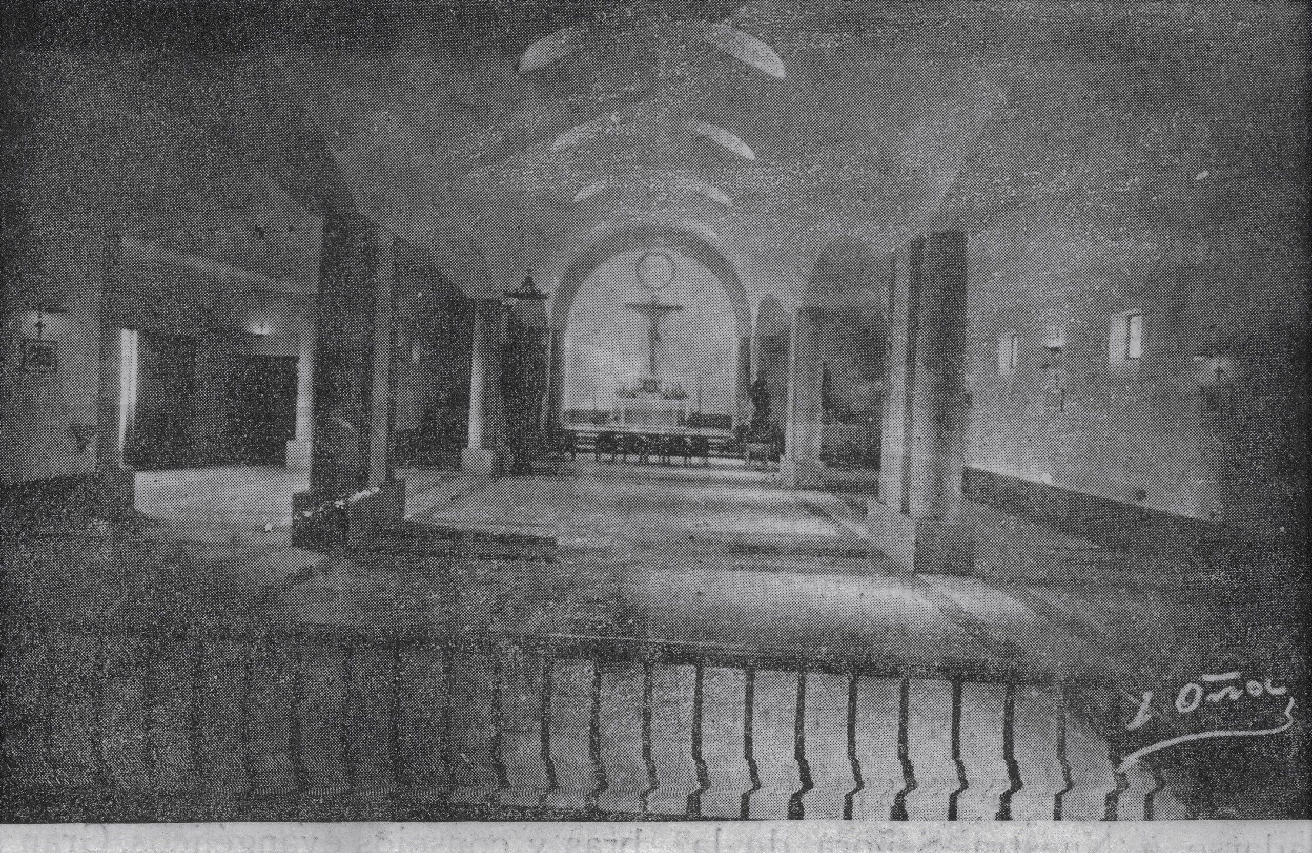 Interior Iglesia san José. 1954 Fotografía Oña