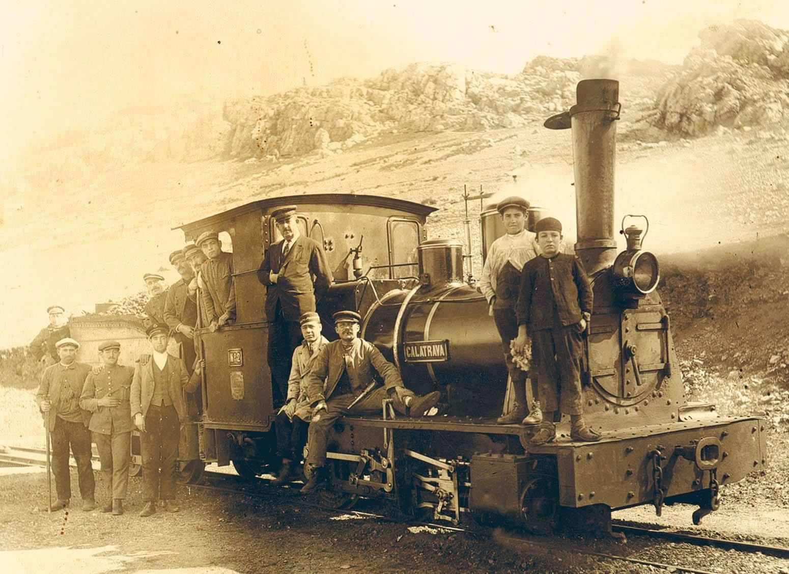 Trenillo de Calzada entrando en Puertollano 1925
