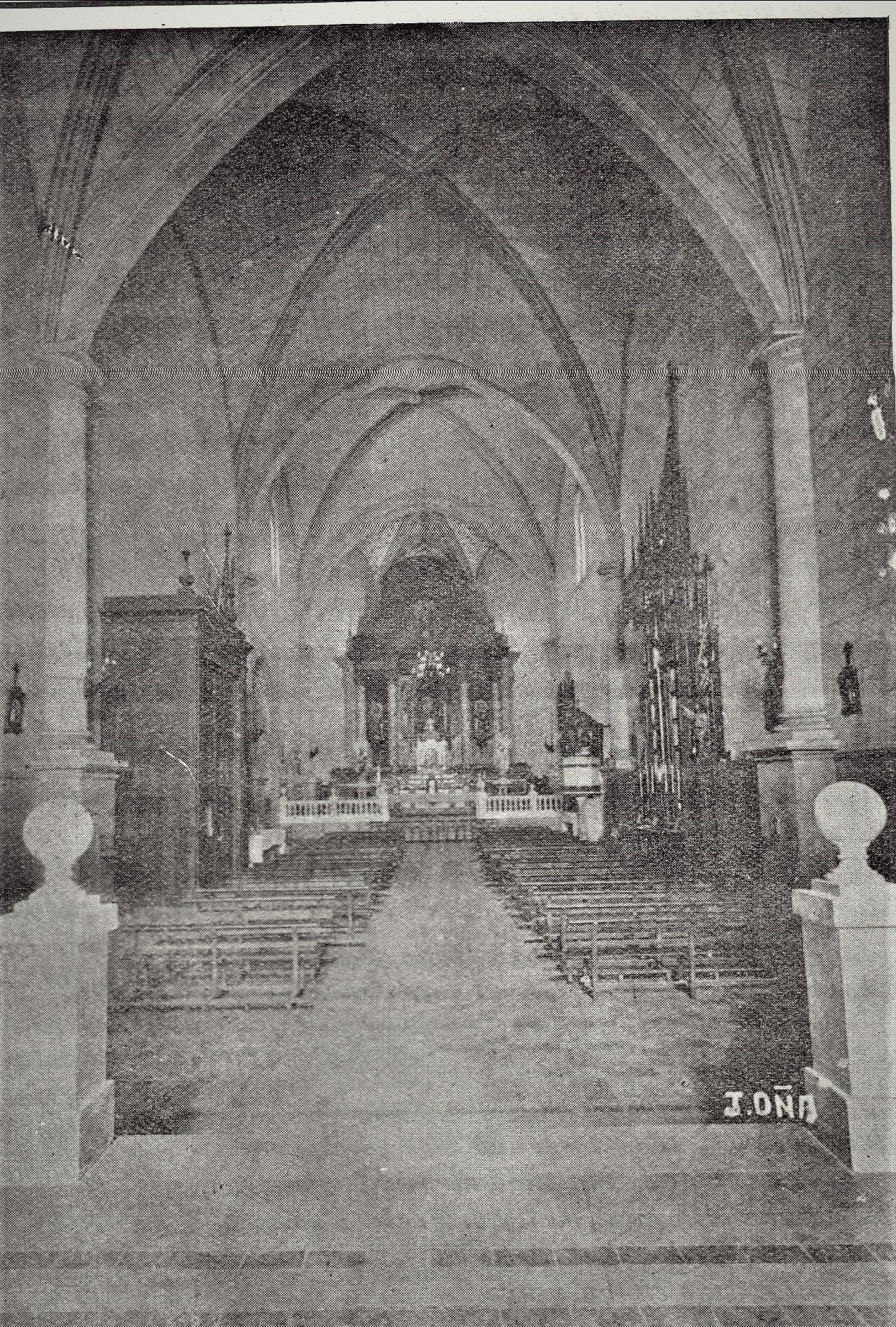 Interior Parroquia de la Asunción 1941 Fotografía Oña