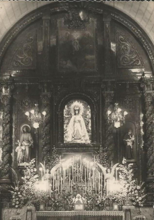 Altar de la iglesia Virgen de Gracia, años 50