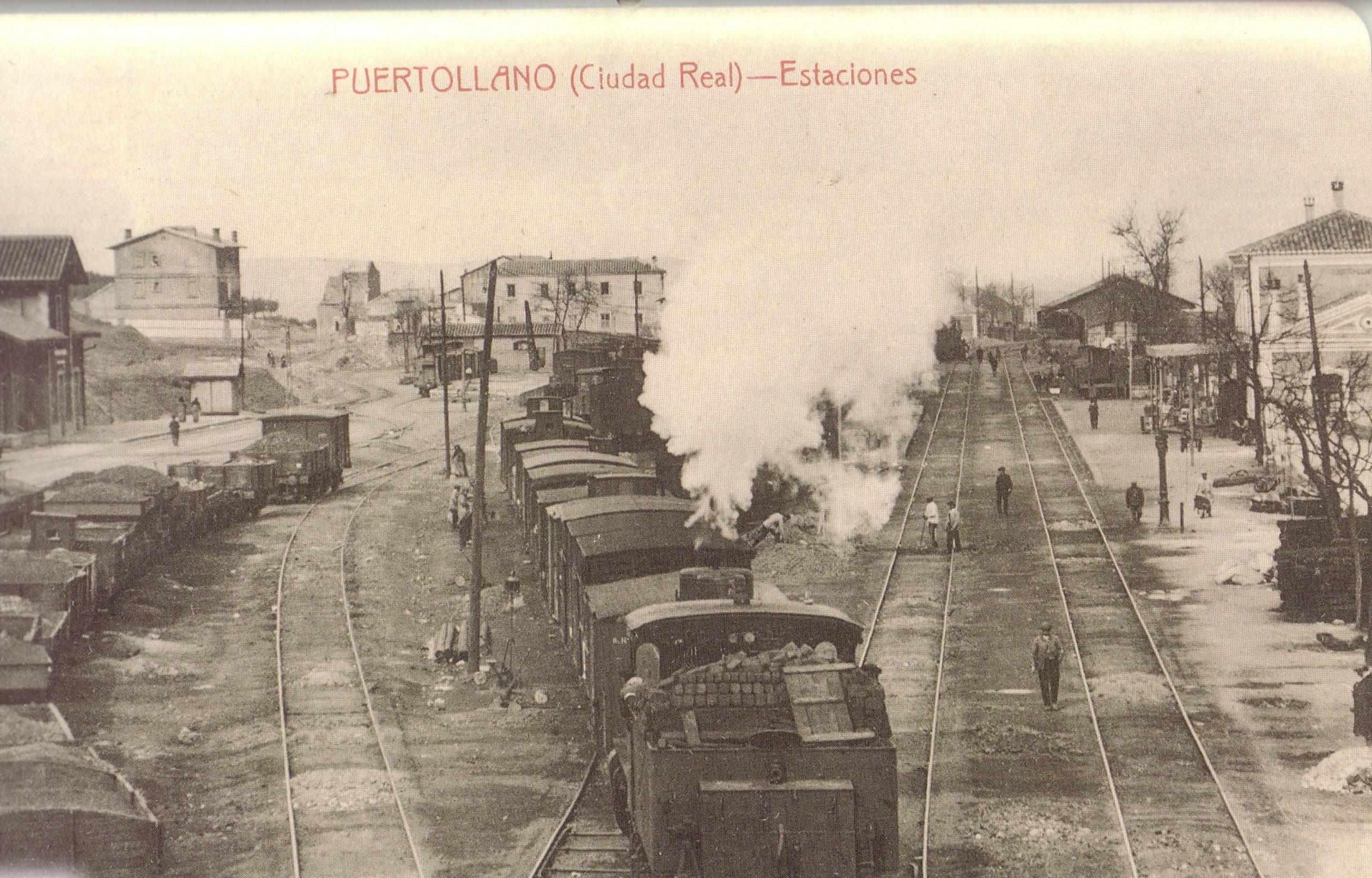 Estación de ferrocarril de Puertollano. Fotografía Enrique Malagón. 1905.1920
