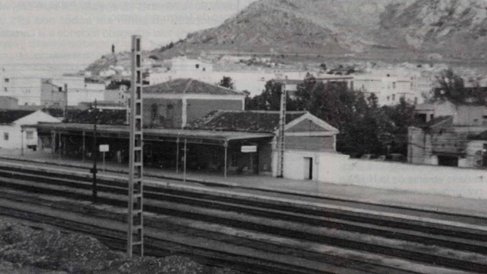 Estación de Puertollano. Archivo Biblioteca virtual de Castilla la Mancha