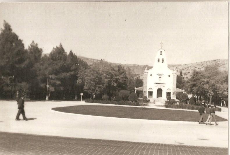 Plaza de la Iglesia Santa Bárbara, años 70 Fotografía Felipe Valentín García