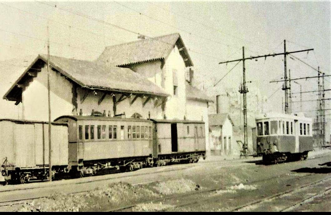 Estación de vía estrecha. Principios de los 60