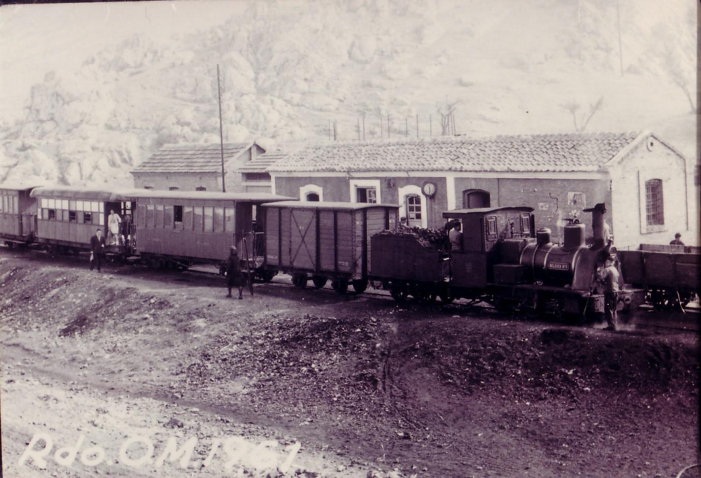 El Trenillo de Calzada en la estación de Puertollano