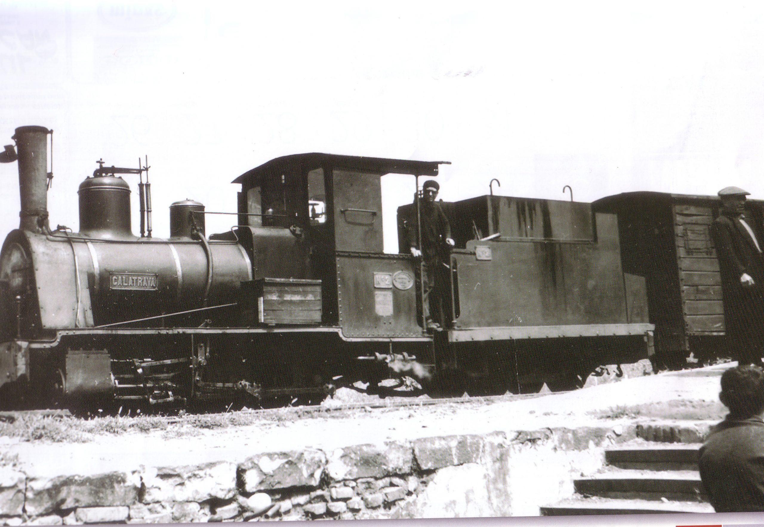 Máquina de Vapor nº2 Valdepeñas- Puertollano en la estación de Puertollano 1963 Archivo fotográfico UCLM